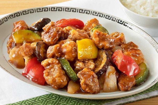バルサミコ酢豚~5種のカラフル野菜~