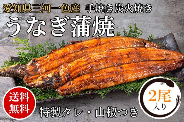 愛知県三河一色産うなぎ蒲焼(約120gx2尾)